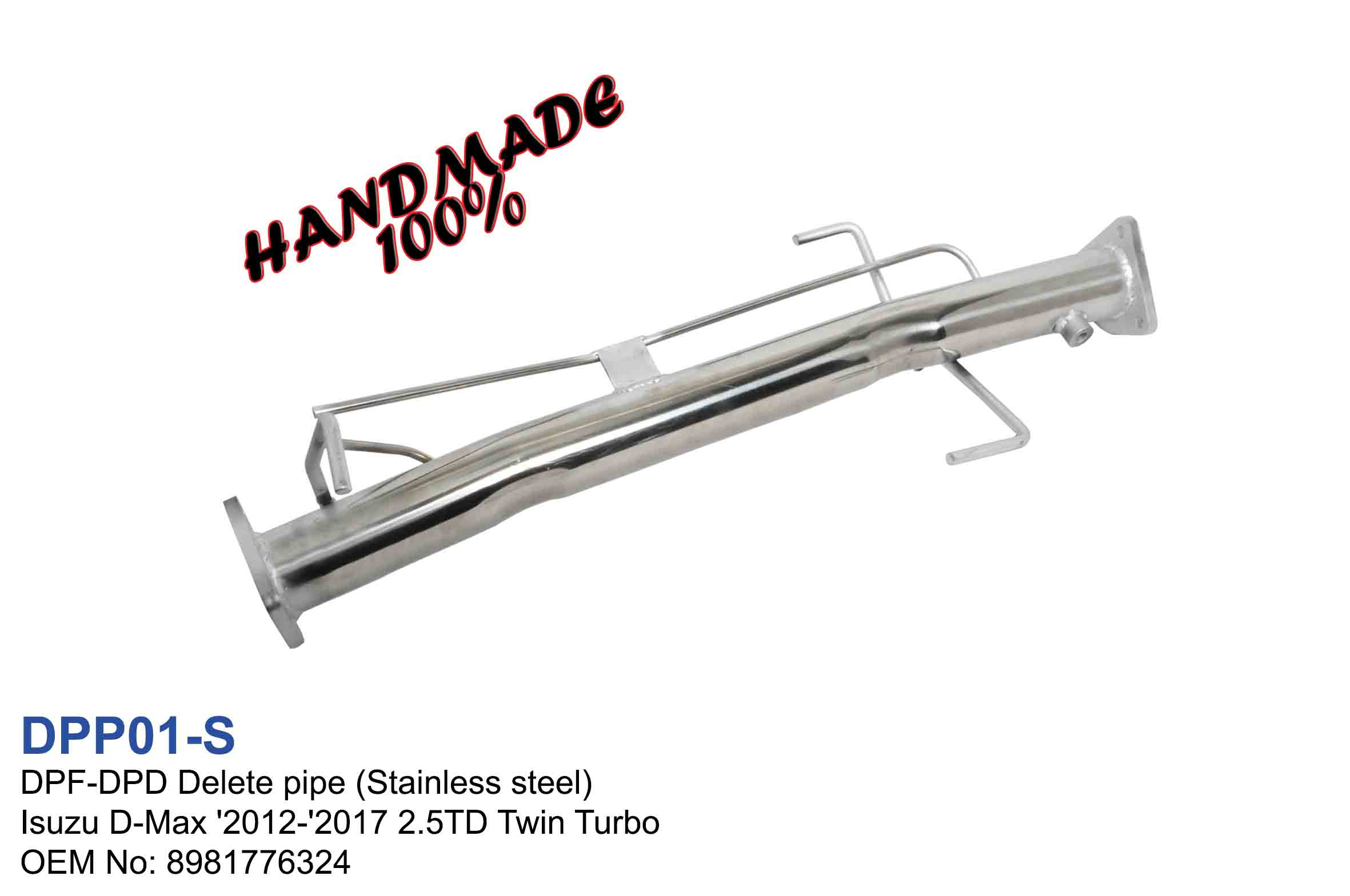 DPF-DPD Delete pipe Stainless steel for Isuzu D-Max '2012